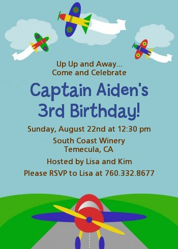 Airplane birthday party invitations candles and favors airplane birthday party invitations filmwisefo