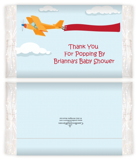 Airplane In The Clouds Baby Shower Popcorn Wrappers Baby Shower