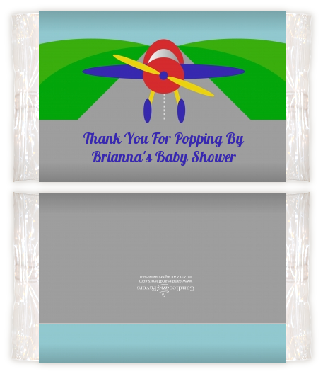 Airplane Baby Shower Popcorn Wrappers Baby Shower Popcorn Wrappers