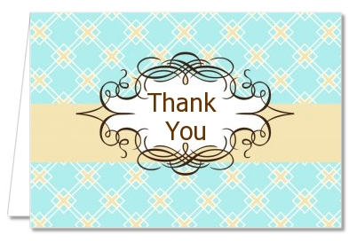 Aqua & Yellow - Graduation Party Thank You Cards