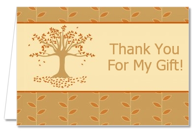 Autumn Tree - Bridal Shower Thank You Cards