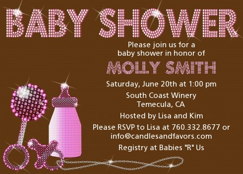 Baby Shower Invitations Click To Enlarge Pink Brown