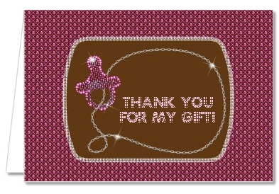 Baby Bling Pink - Baby Shower Thank You Cards