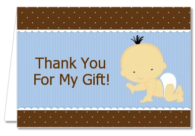 Baby Boy Asian - Baby Shower Thank You Cards