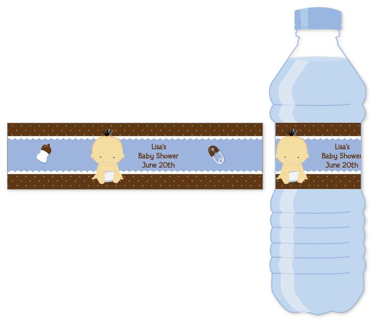 Baby Boy Asian Water Bottle Label Baby Shower Water Bottle Stickers