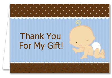 Baby Boy Caucasian   Baby Shower Thank You Cards