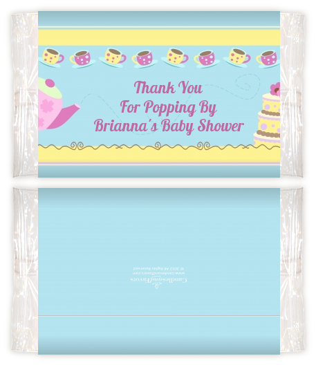 Baby Brewing Tea Party Baby Shower Popcorn Wrappers Baby Shower