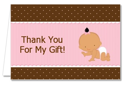 Baby Girl Hispanic - Baby Shower Thank You Cards