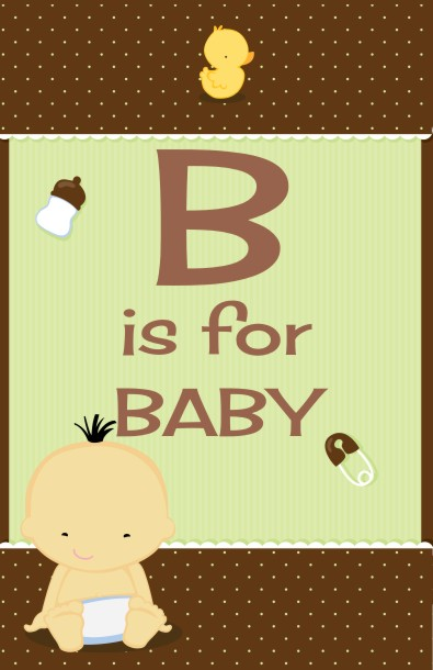 Baby Neutral Asian - Personalized Baby Shower Nursery Wall Art