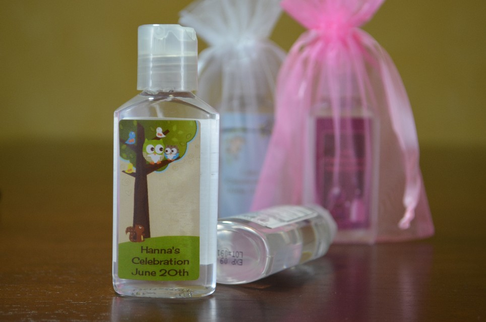 Exceptional Personalized Hand Sanitizers   Baby Shower Favors