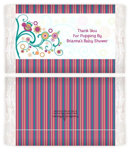 Baby Sprinkle Baby Shower Popcorn Wrappers Baby Shower Popcorn