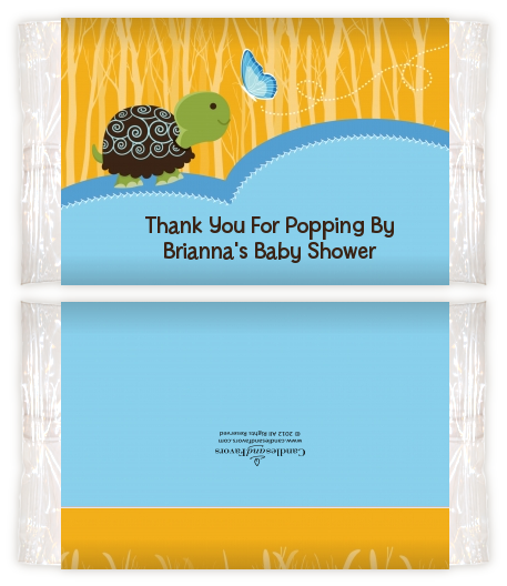 Baby Turtle Blue Baby Shower Popcorn Wrappers Baby Shower Popcorn