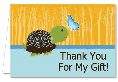 Baby Turtle Blue - Baby Shower Thank You Cards