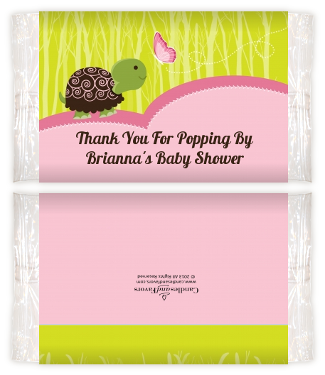 Baby Turtle Pink Baby Shower Popcorn Wrappers Baby Shower Popcorn