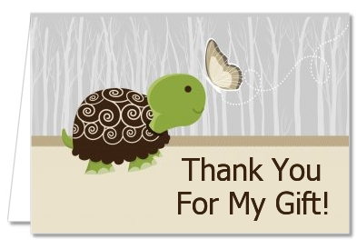 baby turtle neutral baby shower thank you cards