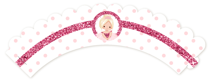 Ballerina - Birthday Party Cupcake Wrappers Blonde Hair