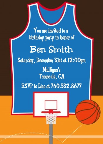 basketball birthday party invitations - Basketball Party Invitations