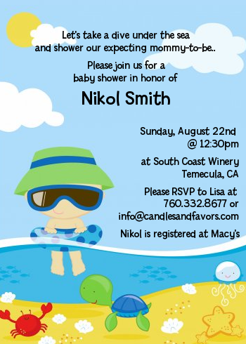 beach baby shower invitations : ukrobstep, Baby shower invitations