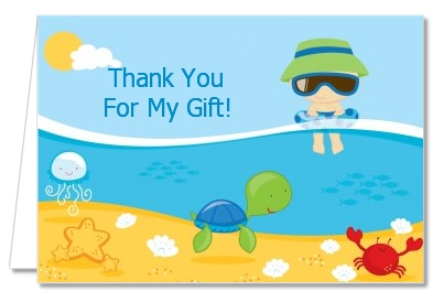 Beach Baby Boy - Baby Shower Thank You Cards