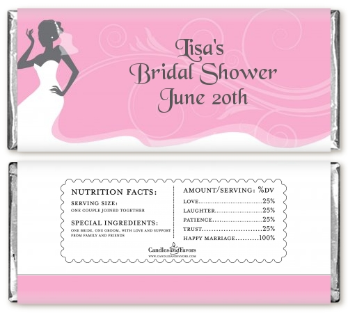 bridal silhouette african american personalized bridal shower candy bar wrappers