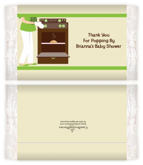 Bun In The Oven Neutral Baby Shower Popcorn Wrappers Baby Shower