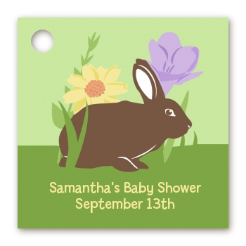 Bunny - Personalized Baby Shower Card Stock Favor Tags