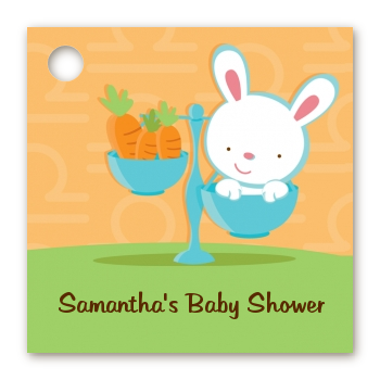Bunny | Libra Horoscope - Personalized Baby Shower Card Stock Favor Tags