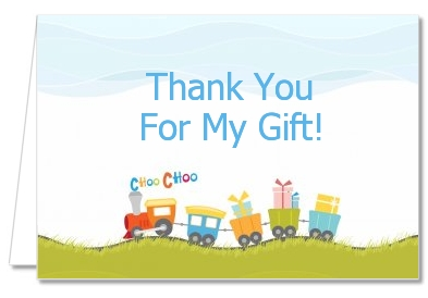 Choo Choo Train - Birthday Party Thank You Cards
