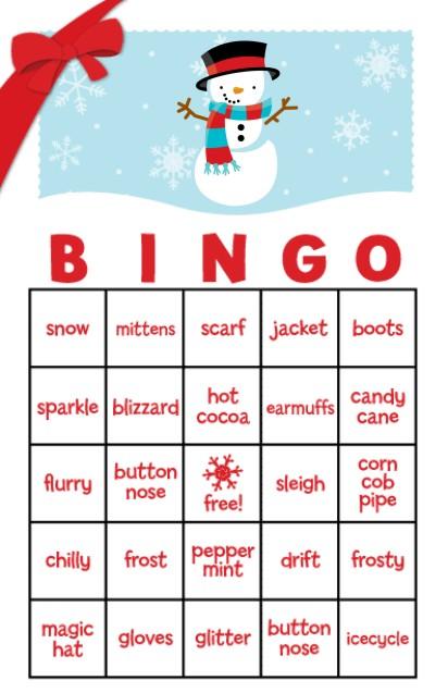 christmas bingo game to print
