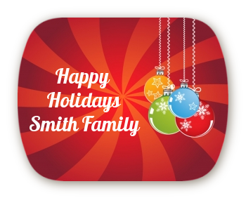 Christmas Ornaments - Personalized Christmas Rounded Corner Stickers