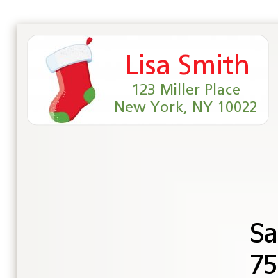 Christmas Stocking - Christmas Return Address Labels