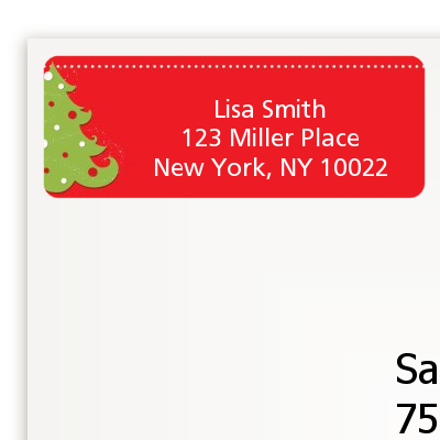 Christmas Tree - Christmas Return Address Labels