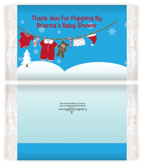 Clothesline Christmas Baby Shower Popcorn Wrappers Baby Shower