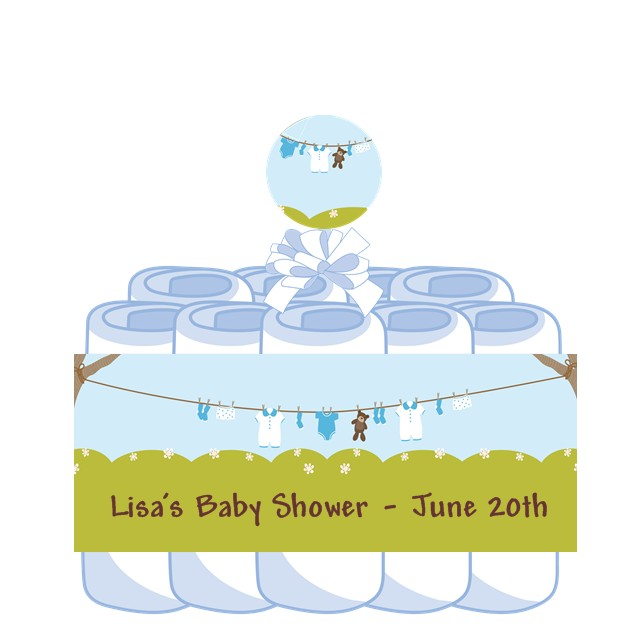 how to make a clothesline for baby shower