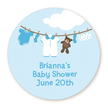 clothesline it s a boy personalized sticker labels clothesline