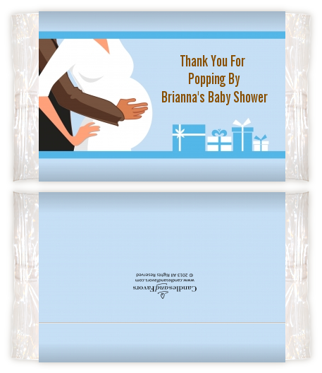 Couple Expecting Boy Baby Shower Popcorn Wrappers Baby Shower