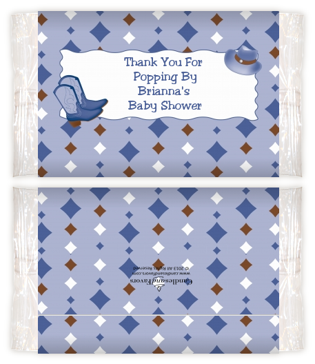 Cowboy Western Baby Shower Popcorn Wrappers Baby Shower Popcorn
