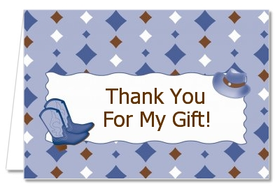 Cowboy Western - Baby Shower Thank You Cards