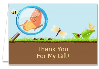 Critters Bugs & Insects - Baby Shower Thank You Cards