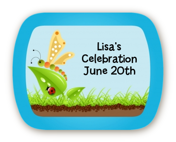 Critters Bugs & Insects - Personalized Birthday Party Rounded Corner Stickers