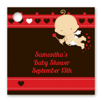 Cupid Baby Valentine's Day - Personalized Baby Shower Card Stock Favor Tags