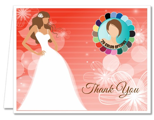 Custom Bride - Bridal Shower Thank You Cards
