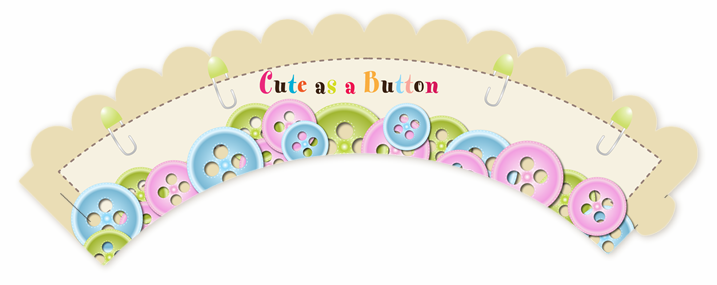 cute as a button baby shower cupcake wrappers