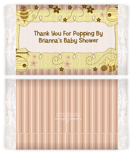 Cute As Can Bee Baby Shower Popcorn Wrappers Baby Shower Popcorn