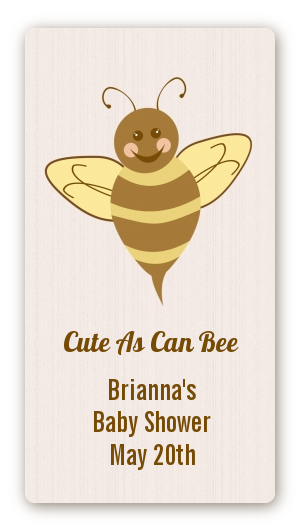 Cute As Can Bee Baby Shower Rectangular Sticker Labels