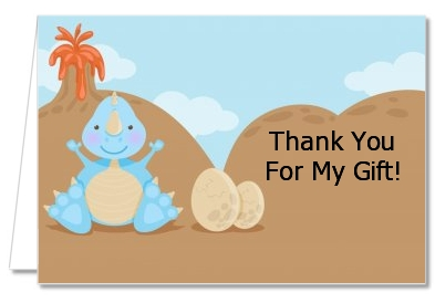 dinosaur baby boy baby shower thank you cards
