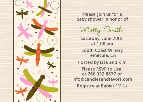 Dragonfly   Baby Shower Invitations