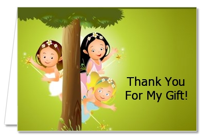 Fairy Princess Friends - Birthday Party Thank You Cards
