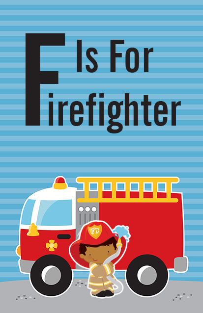 Future Firefighter - Personalized Birthday Party Wall Art Caucasian Boy