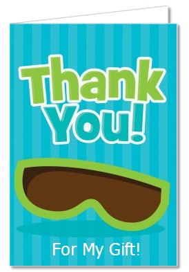 birthday party thank you cards flip flops boy pool party thank you
